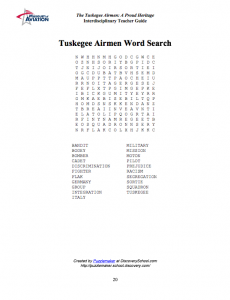 Museum of Aviation Teacher Guide - Tuskegee Airmen