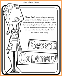 Bessie Coleman Coloring Page