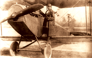 Bessie Coleman with Airplane